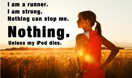 music and running